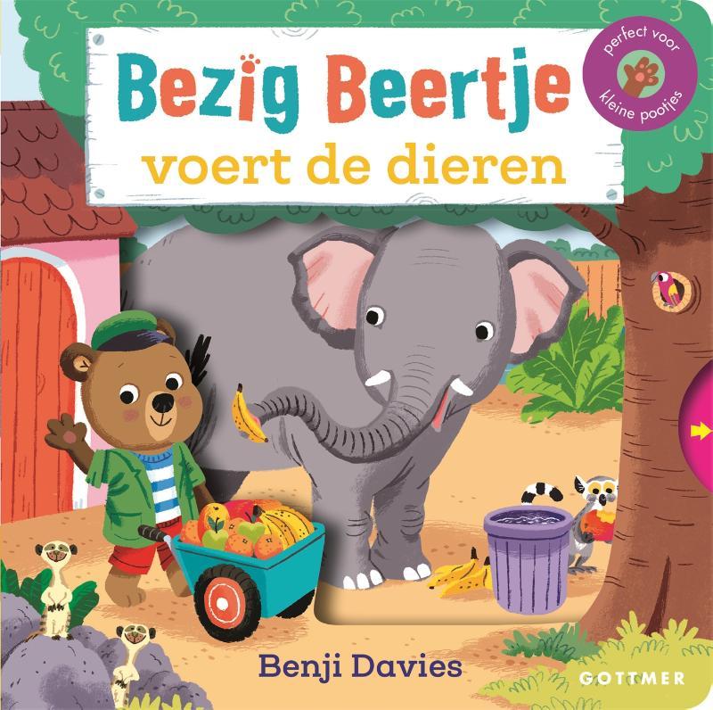 Benji Davies,Bezig Beertje voert de dieren
