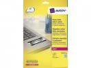 ,laseretiket Avery 63,5x29,6mm 20 vel 27 etiketten per vel   zilver