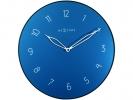 <b>!wandklok NeXtime dia. 40 cm  glas/metaal, blauw `Carousel`</b>,