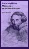 Heinrich  Heine,Memoires en bekentenissen