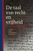 Oebele  Vries,De taal van recht en vrijheid