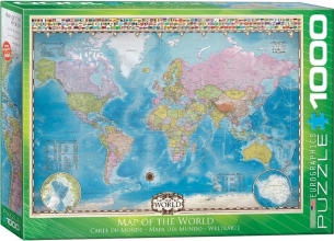 Eur-6000-0557 , Puzzel 1000 stukjes map of the world