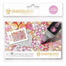 , Kleurkaart Chameleon Embossed bloemenpatroon
