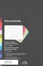 Moleskine 2017 Colour a Month Daily Diary/Planner, in 12 notebooks Une couleur par mois Agenda Journalier
