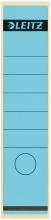 , Rugetiket Leitz breed/lang 62x285mm zelfklevend blauw