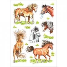 , Etiket Herma getekende paarden