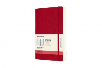 , Moleskine 18 MND Agenda - 2020/21 - Dagelijks - Large (13x21 cm) - Scarlet Red - Zachte Kaft