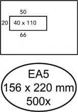 , Envelop Quantore 156x220mm venster 4x11cm links 500stuks