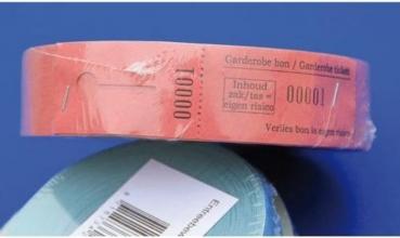 , Garderobebonnen Combicraft nummering 2x 1 t/m 500 blauw