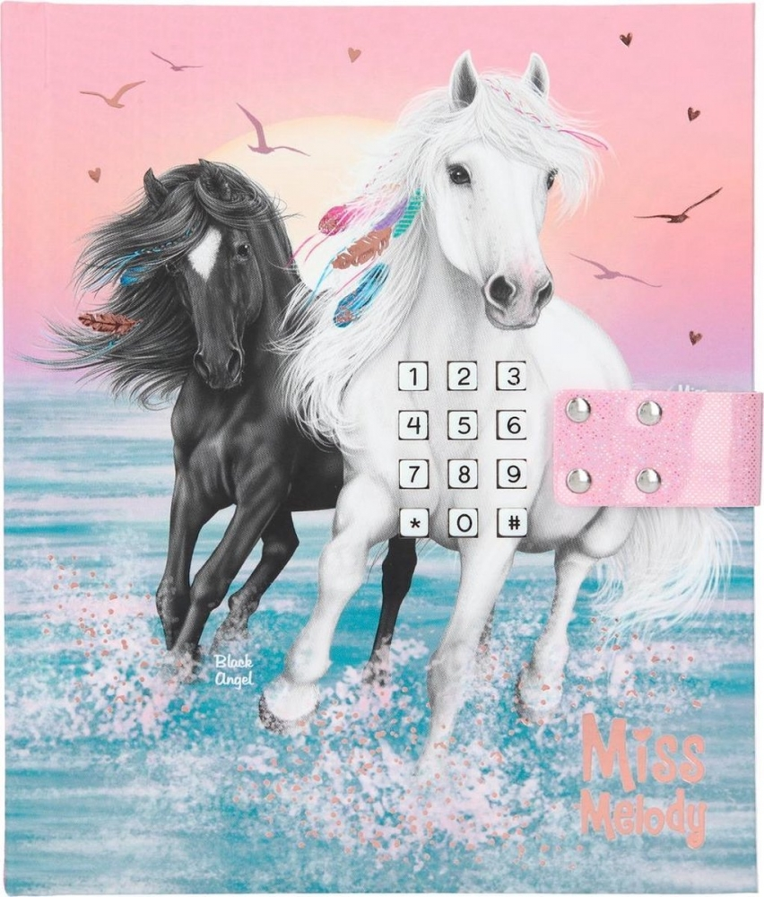 ,Miss melody dagboek met geheime code en muziek