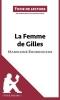 Seret, Hadrien, Analyse : La Femme de Gilles de Madeleine Bourdouxhe  (analyse compl?te de l`oeuvre et r?sum?)