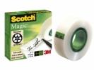 , Plakband Scotch Magic 810 onzichtbaar 19mmx33m