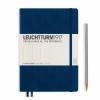 <b>Lt342925</b>,Leuchtturm notitieboek medium 145x210 dots / bullets marineblauw