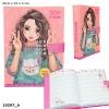 <b>10297a</b>,Topmodel dagboek met geheime code zalm kleurig