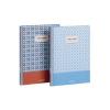 , Agenda Brepols Vintage A5 16 Maanden Assoti Blauw-Rood/Blauw-Wit