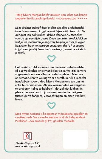 Meg Meyers Morgan,Alles is onderhandelbaar