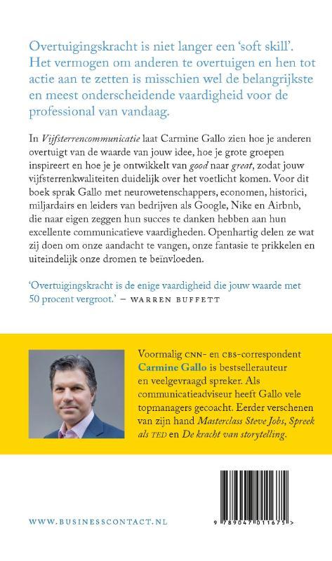Carmine Gallo,Vijfsterrencommunicatie