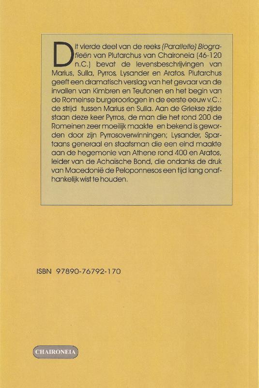 Plutarchus,Biografieën