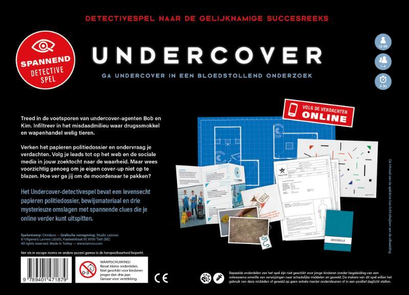 Jimmy Cowe, Liese Luijten, Pieterjan Uytterhoeven,Undercover - Detectivespel