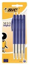 , Balpen Bic M10 blauw medium blister à 4st