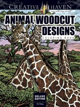 Tim Foley Creative Haven Deluxe Edition Animal Woodcut Designs Coloring Book