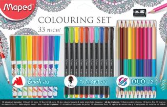 , Viltstift Maped colouring set 33delig assorti
