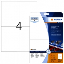, Etiket Herma 4697 105x148mm A4 weerbestendig wit