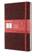 , Moleskine LE Notitieboek Blend AW19 Large (13x21 cm) Gelinieerd Rood