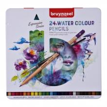 , Kleurpotloden Bruynzeel aquarel Expression blik à 24 stuks assorti