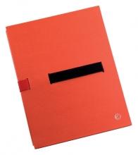 , Bulkmap Jalema met klittenbandsluiting rood