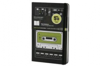 Moleskine Audio Cassette Black Plain Large Notebook