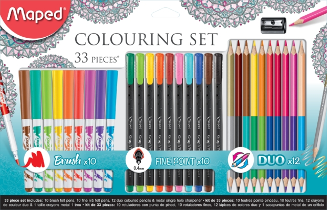 ,Viltstift Maped colouring set 33delig assorti