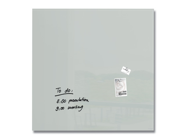 ,Glasmagneetbord Artverum grijs 1000x1000x18mm incl. 2       magneten