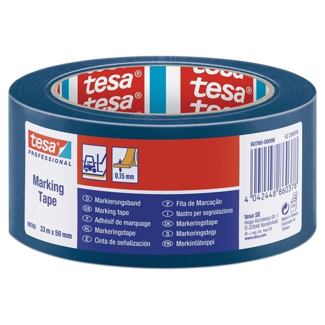 ,Markeringstape Tesa 60760 PVC 50mmx33m blauw