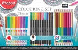 ,<b>Viltstift Maped colouring set 33delig assorti</b>