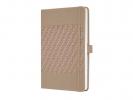 ,notitieboek Sigel Jolie Impress A5 hardcover gelinieerd     `desert brown`