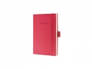 ,notitieboek Sigel Conceptum Look Felt A6 blanco softcover   rood