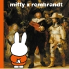 Dick  Bruna,miffy x rembrandt