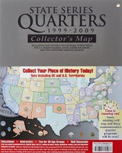 Whitman Publishing State Series Quarters 1999-2009 Collectors Map