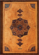 De68976 , Paperblanks weekagenda  2021 medium 12.5x17.5 flex safavid