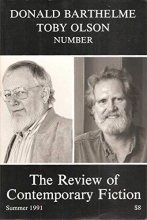 Review of Contemporary Fiction Donald Barthelme/Toby Olson