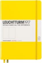 Lt344800 , Leuchtturm notitieboek medium 145x210 puntjes lemon geel