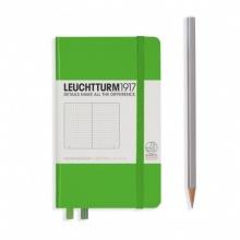 Lt357486 , Leuchtturm notitieboek pocket 90x150 dots / bullets lichtgroen
