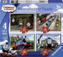 Rav-069378 , Puzzel thomas & friends 4 in 1 ( 12+16+20+24 stuks)