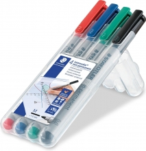 , Viltstift Staedtler Lumocolor 315 non permanent M set à 4 stuks assorti