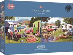 Gib-g5057 , Puzzel -caravan outings- gibsons 2x500 stuks