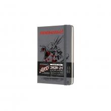 , Moleskine 18 MND Agenda - 2020/21 - LE Planner - Alice In Wonderland - Wekelijks - Pocket (9x14 cm) - Paars - Harde Kaft