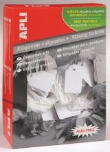 , Label Apli karton nr387 13x20mm wit