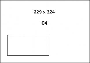 , akte envelop met venster Raadhuis 229x324mm C4 wit gegomd   doos a 250 stuks