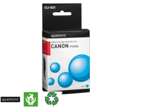 , Inktcartridge Quantore Canon CLI-521 blauw+chip